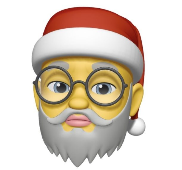 The Santa hat Memoji on iPhone