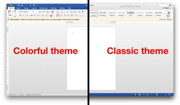 How to Change Microsoft Office theme appearance on Mac