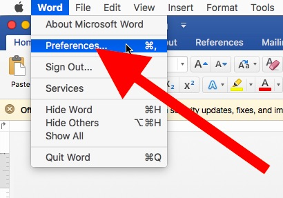 How to change Microsoft Office Word Excel visual themes on Mac