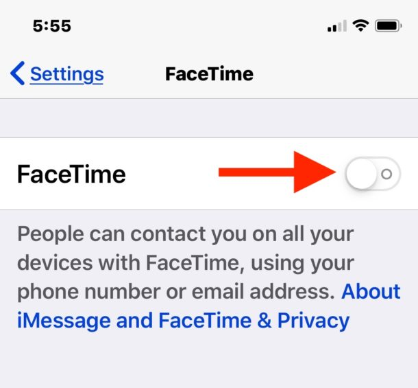 Disable FaceTime in iOS