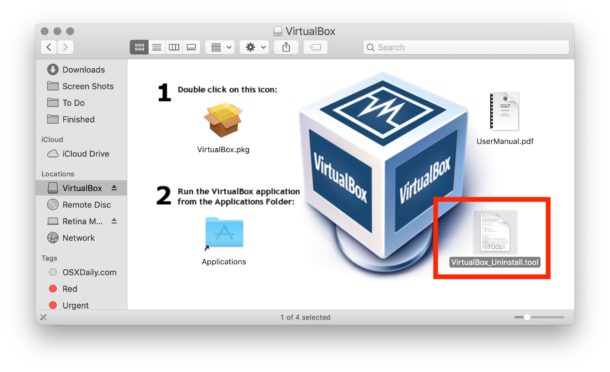 Uninstall VirtualBox tool for Mac