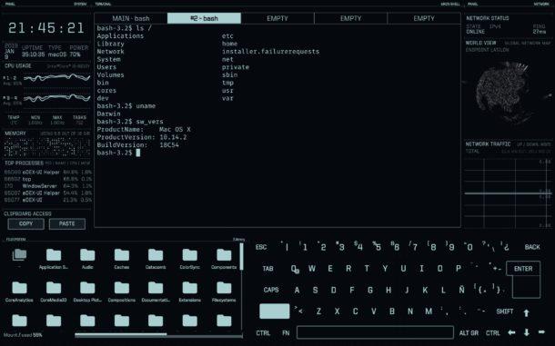 eDEX-UI on Mac