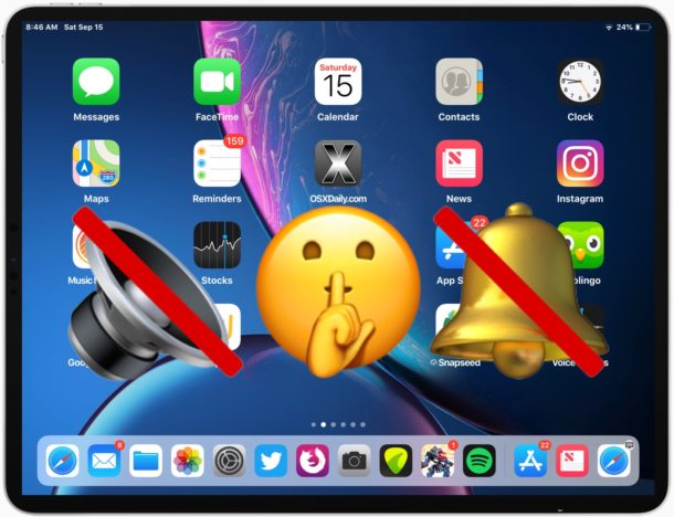 How to mute iPad and turn off sound