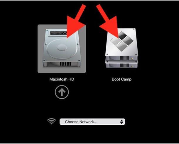 Boot Mac OS or Windows