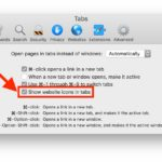 How to show safari website favicons on Mac