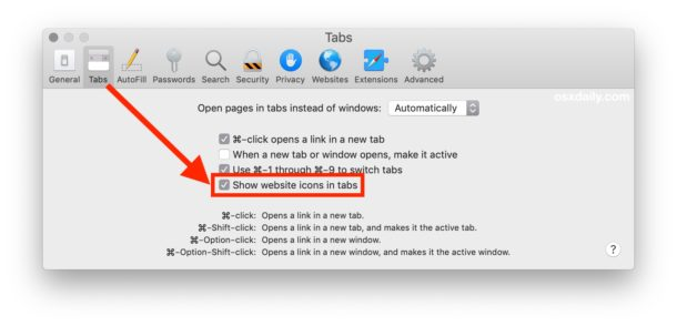 How to show safari website favicons on Mac