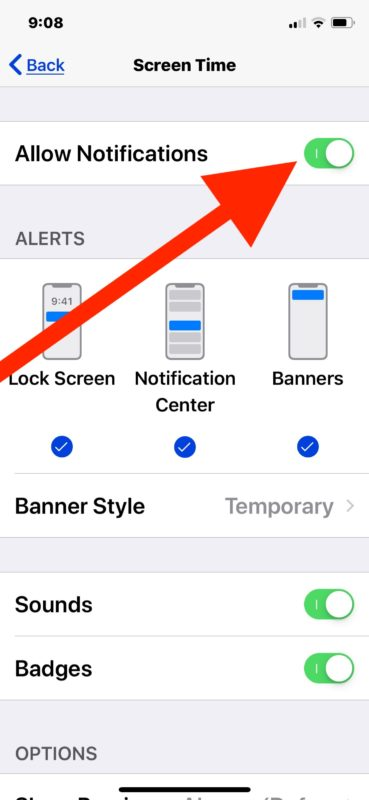 How to disable Screen Time Weekly Report notifications in iPhone or iPad