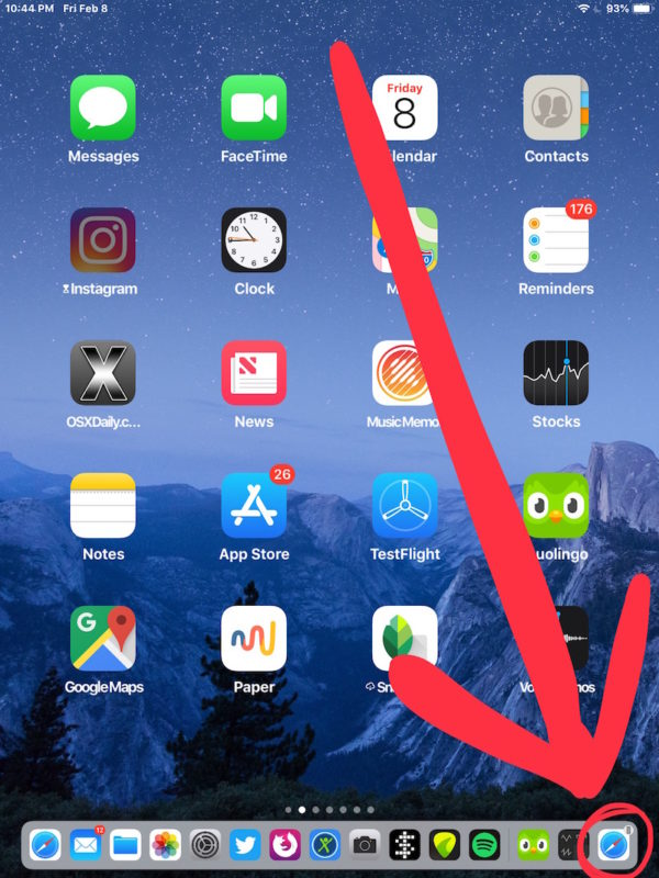 How to pass a Safari webpage from iPhone to iPad or vice versa