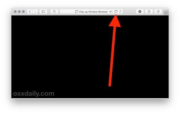 Allow pop-ups per website in Safari for Mac