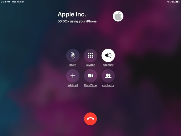 How to make a phone call from iPad