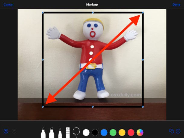 How to add a border to a photo on iPhone or iPad