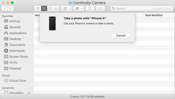 Use iPhone or iPad to take pictures with Continuity Camera on Mac