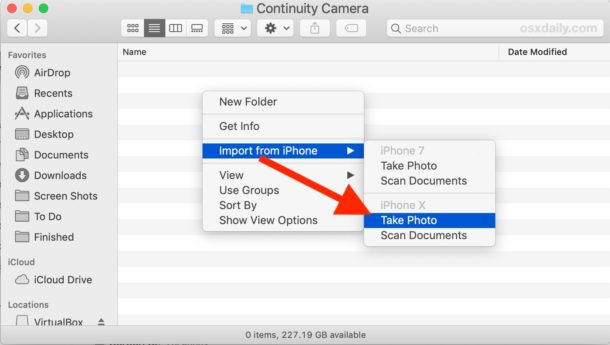 How to Use Continuity Camera on Mac from Finder