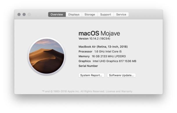 See what Mac OS version is running on a Mac