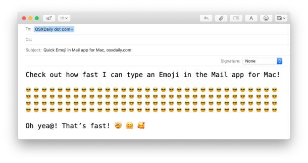 How to add Emoji to email on Mac fast