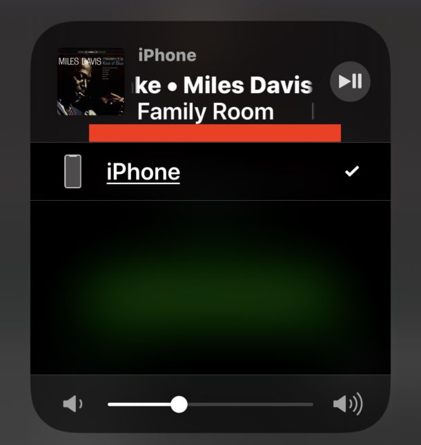 AirPlaying audio from iPhone to Sonos despite Airplay audio source not showing in Control Center