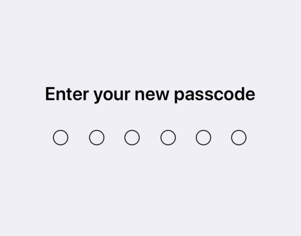Changing the passcode in iOS