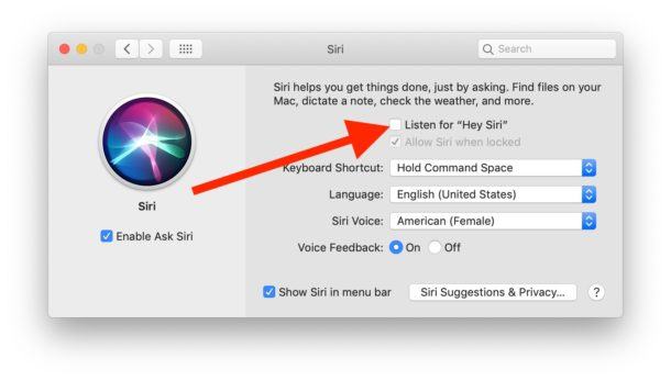 How to turn off Hey Siri on Mac