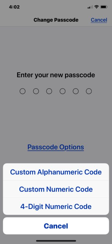 How to change to a password or different length passcode on iPhone or iPad