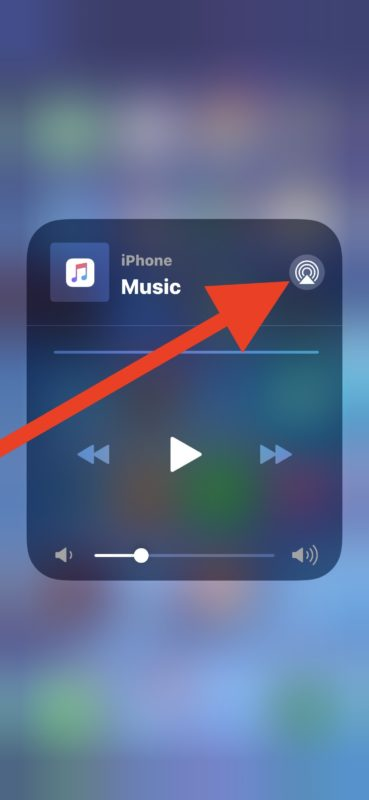 How to access AirPlay audio controls in iOS