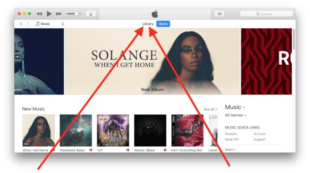 How to access Library in iTunes