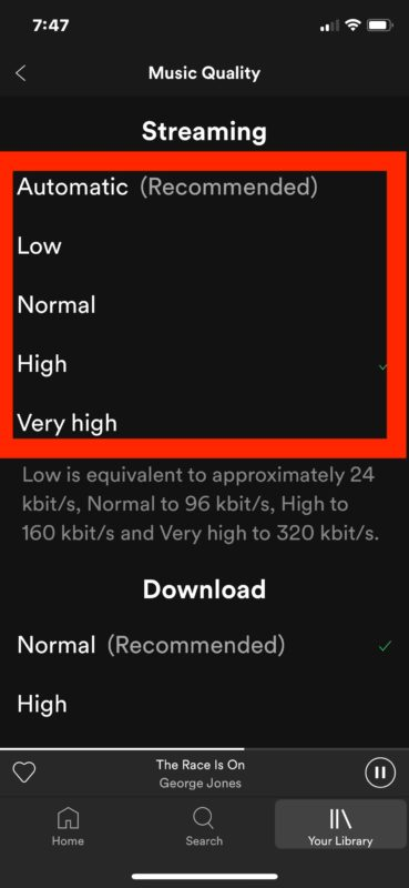 How to change Spotify music quality for streaming