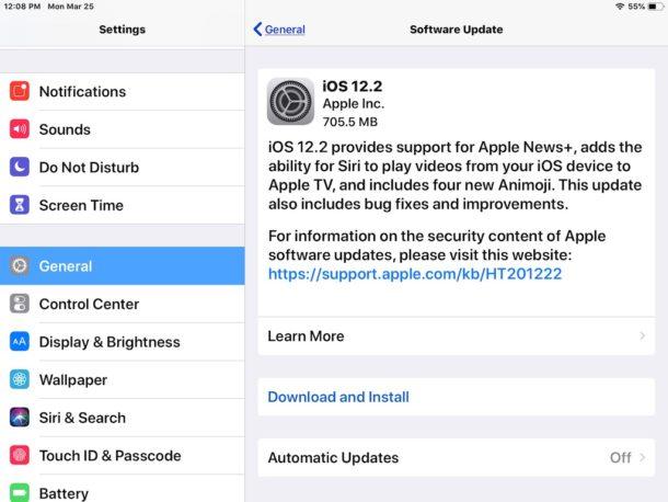 iOS 12.2 Update