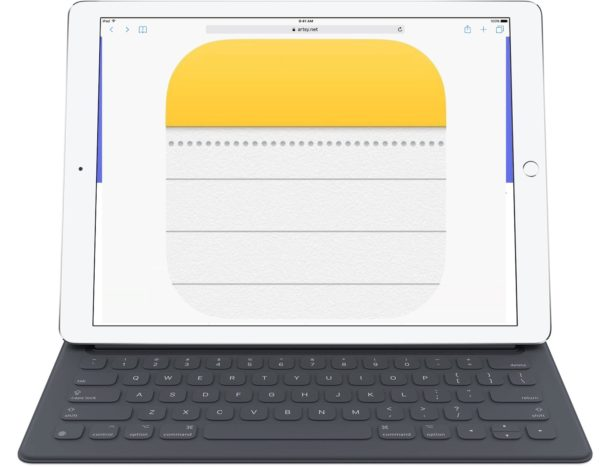 Notes app on iPad has keyboard shortcuts to make typing and writing easier