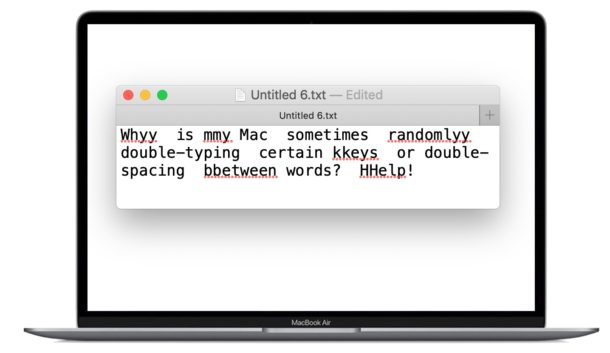 How to fix Mac double typing keys issue