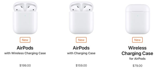 AirPods lineup and pricing