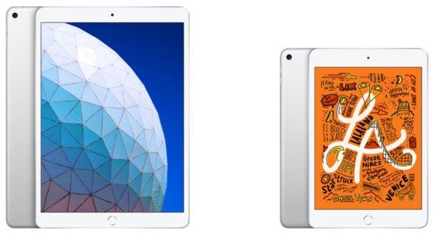 New iPad Air and iPad mini