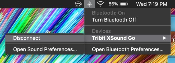 How to disconnect a Bluetooth Device from Mac without removing it