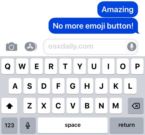 How to remove the Emoji button from iPhone or iPad keyboard