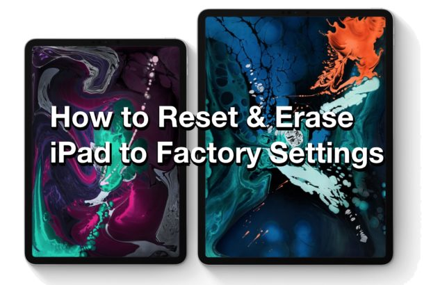How to reset and erase iPad