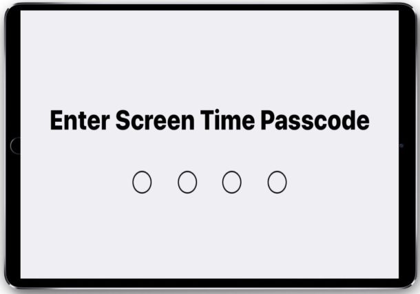 What is the Screen Time passcode on iPhone or iPad