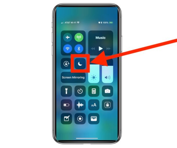 How to use and enable Do Not Disturb on iPhone or iPad with Control Center
