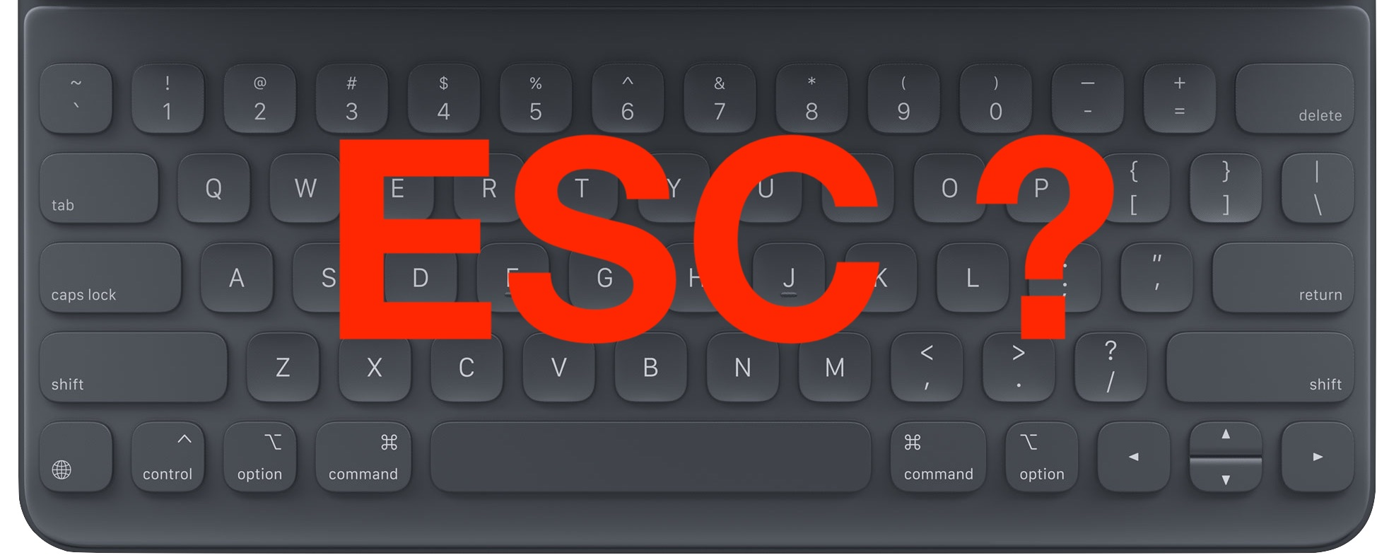 How To Type The Escape Key On Ipad Keyboard Osxdaily