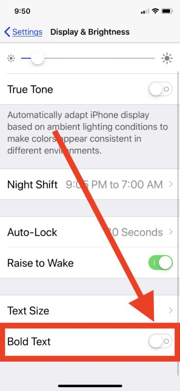 How to enable Bold Text on iPhone or iPad