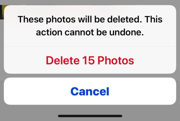Confirm to delete the recently deleted photos to clear Photos storage