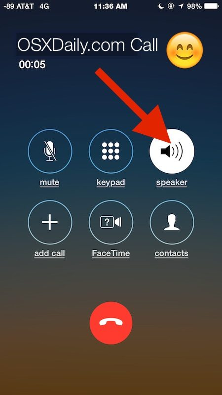 How to use Speaker phone for phone calls on iPhone