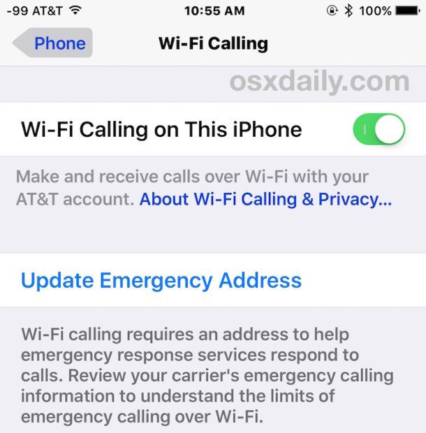How to enable WiFi Calling on iPhone