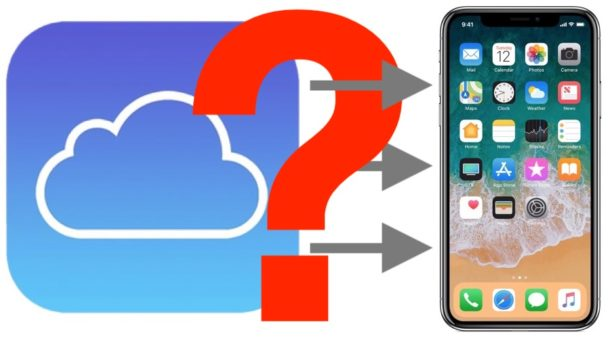 How to check progress of iCloud Restore to iPhone or iPad