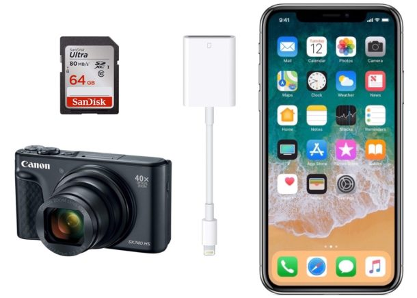 How to copy photos from camera or SD card to iPhone