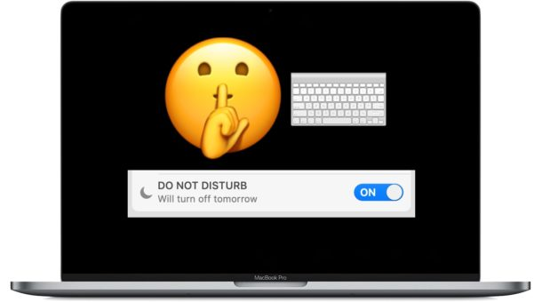 Set a Do Not Disturb keyboard shortcut on Mac