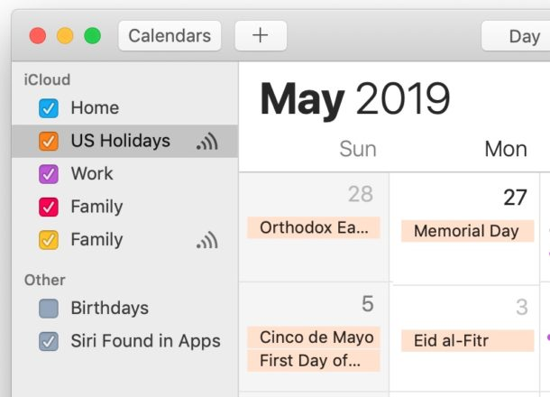 How to Hide Holidays from Calendar on Mac