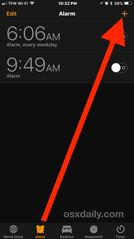 How to create a vibrating alarm clock on iPhone