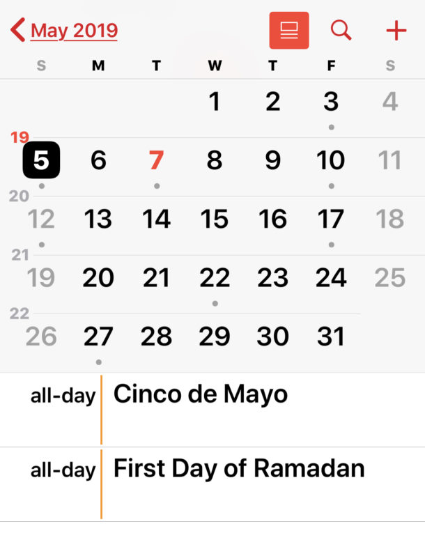 How to remove Holiday Calendar on iPhone or iPad