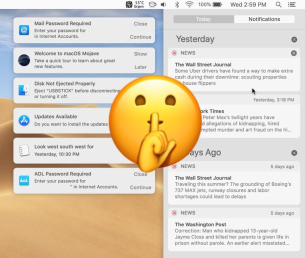 How to enable Do Not Disturb on Mac