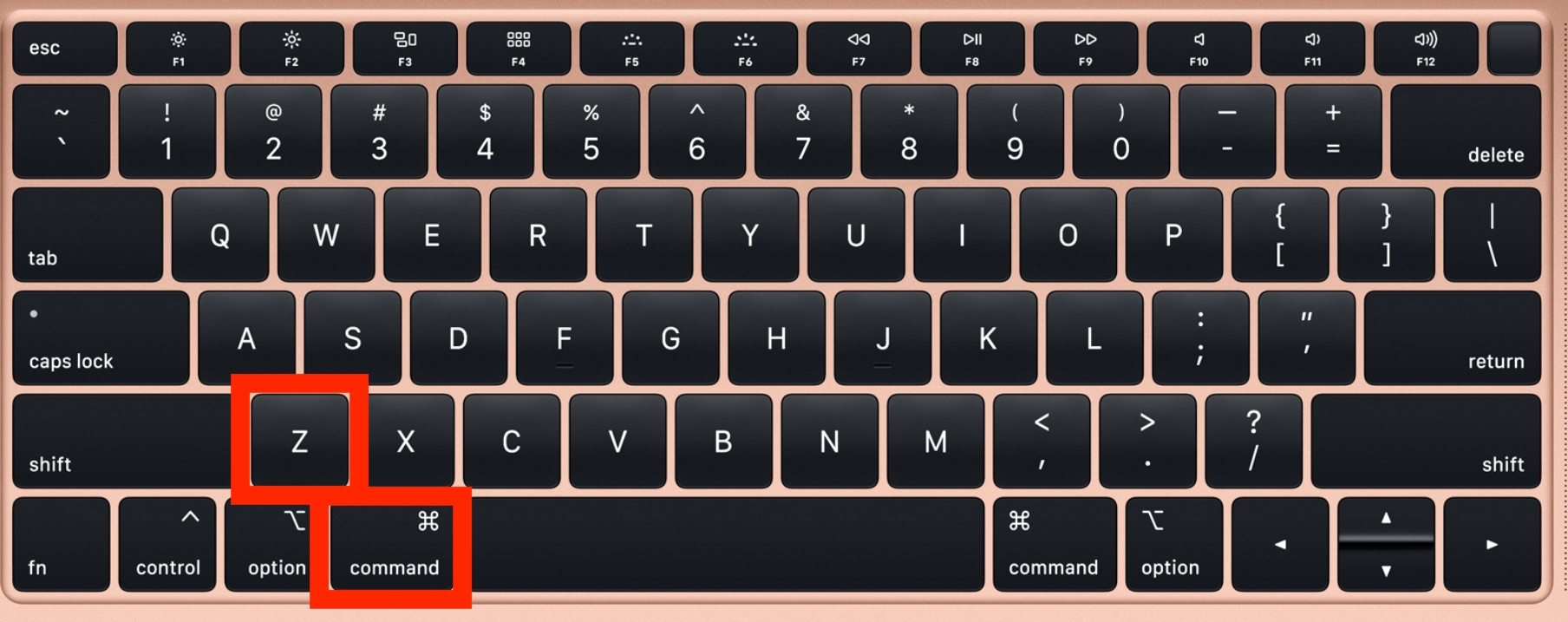 How to Undo on Mac with keyboard shortcut