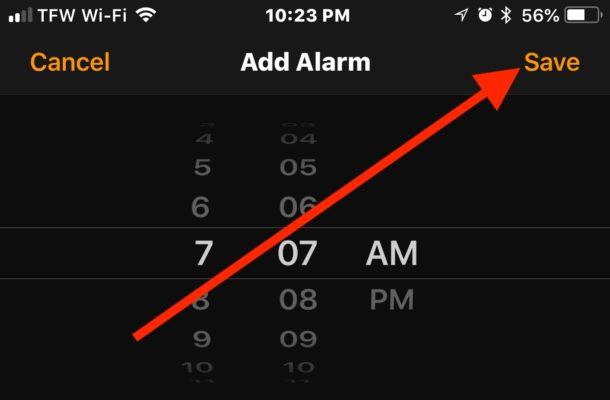 Saving the vibrating alarm on iPhone